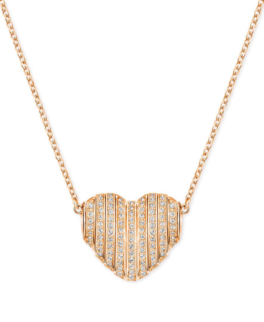 swarovski changeable crystal pave heart pendant necklace. Black Bedroom Furniture Sets. Home Design Ideas