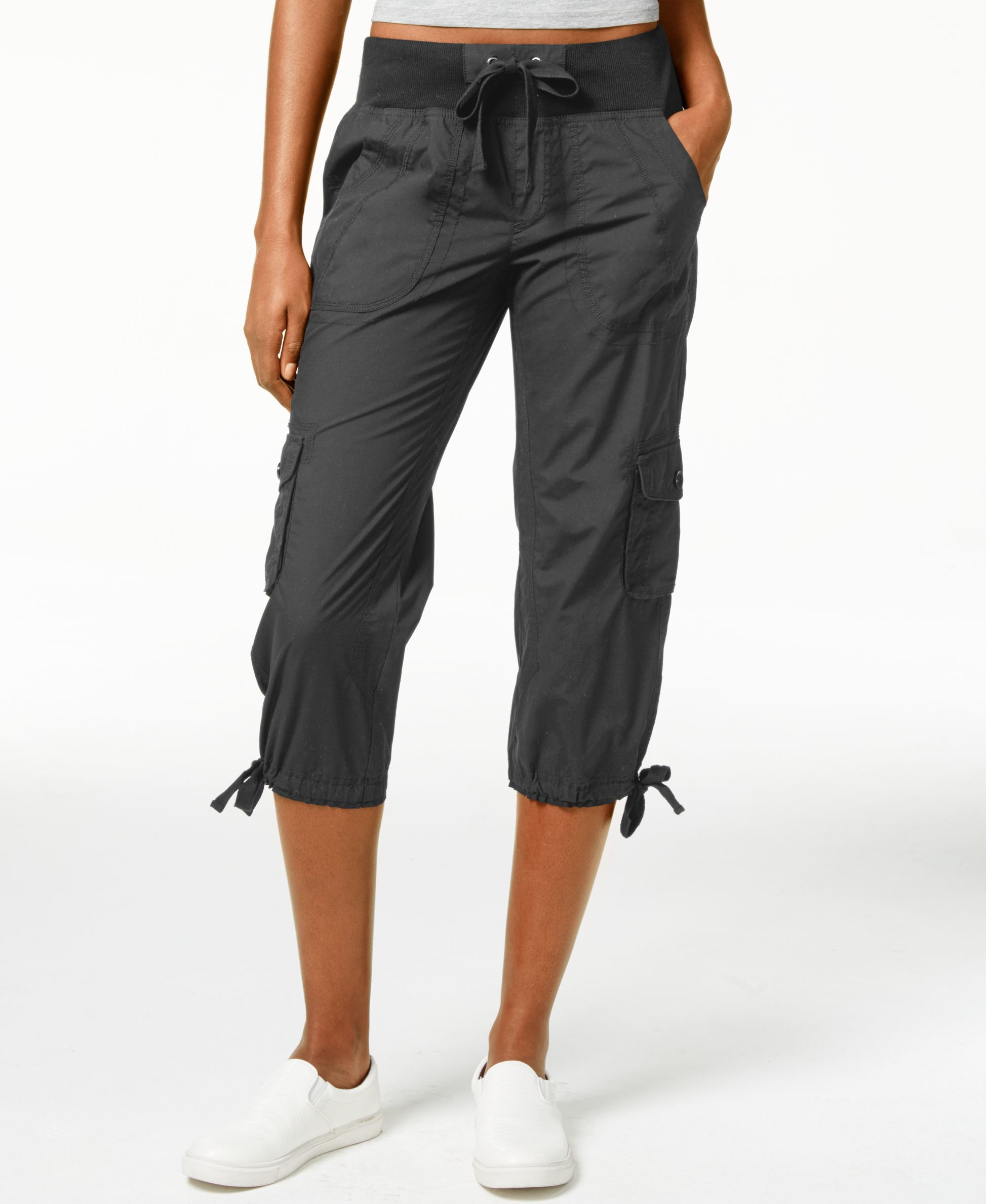 Calvin Klein Performance Cargo Cropped Pants In Black Lyst