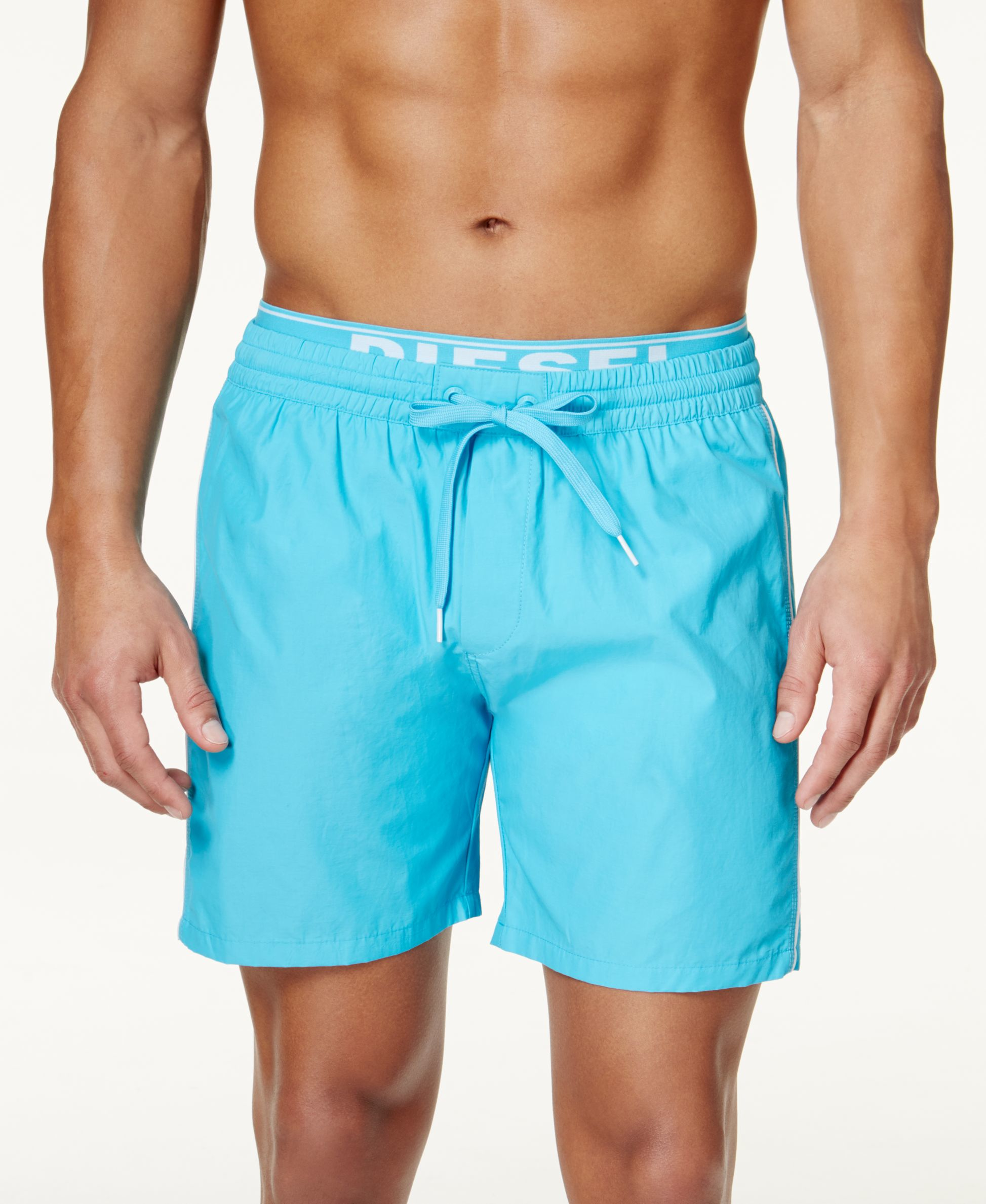 97decec804a22a DIESEL Men's Bmbx Dolphin-e Solid Swim Shorts in Blue for Men - Lyst