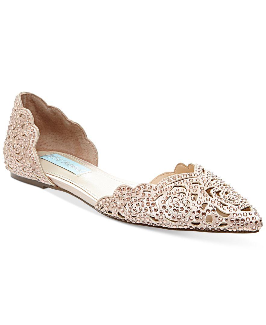 Betsey Johnson Wedding Shoes Flats