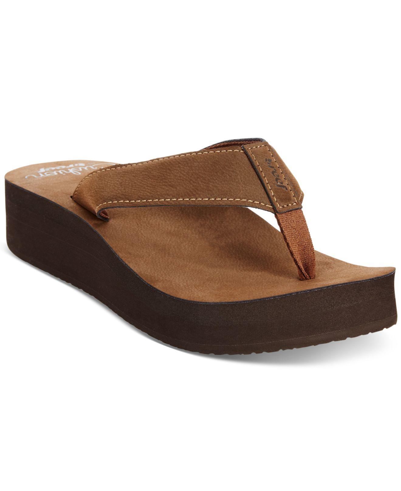 Cool Reef Reef Sandy Women Open Toe Textile Brown Thong Sandal Sandals