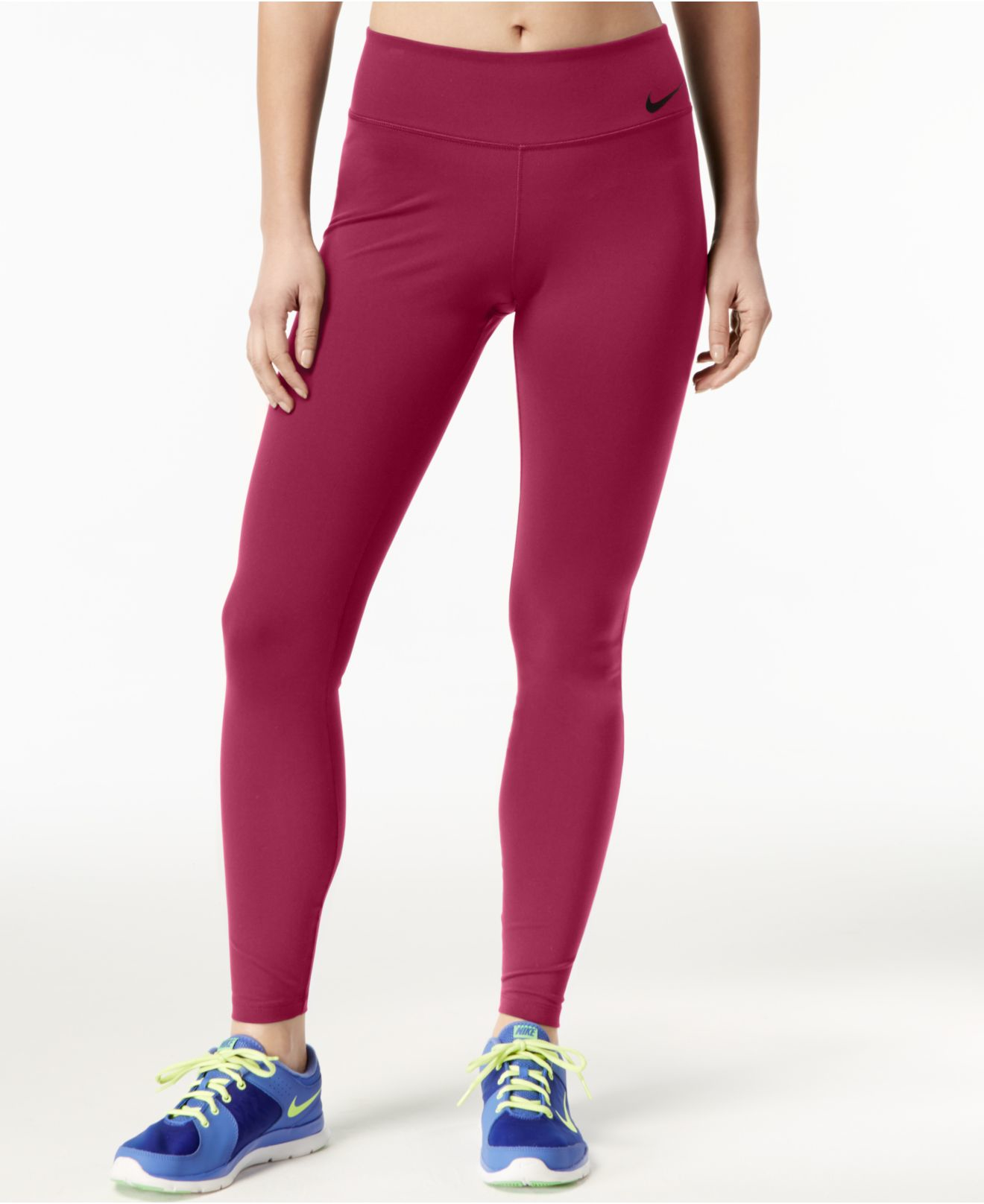 e5d59411aff58 Nike Power Legendary Compression Leggings in Red - Lyst