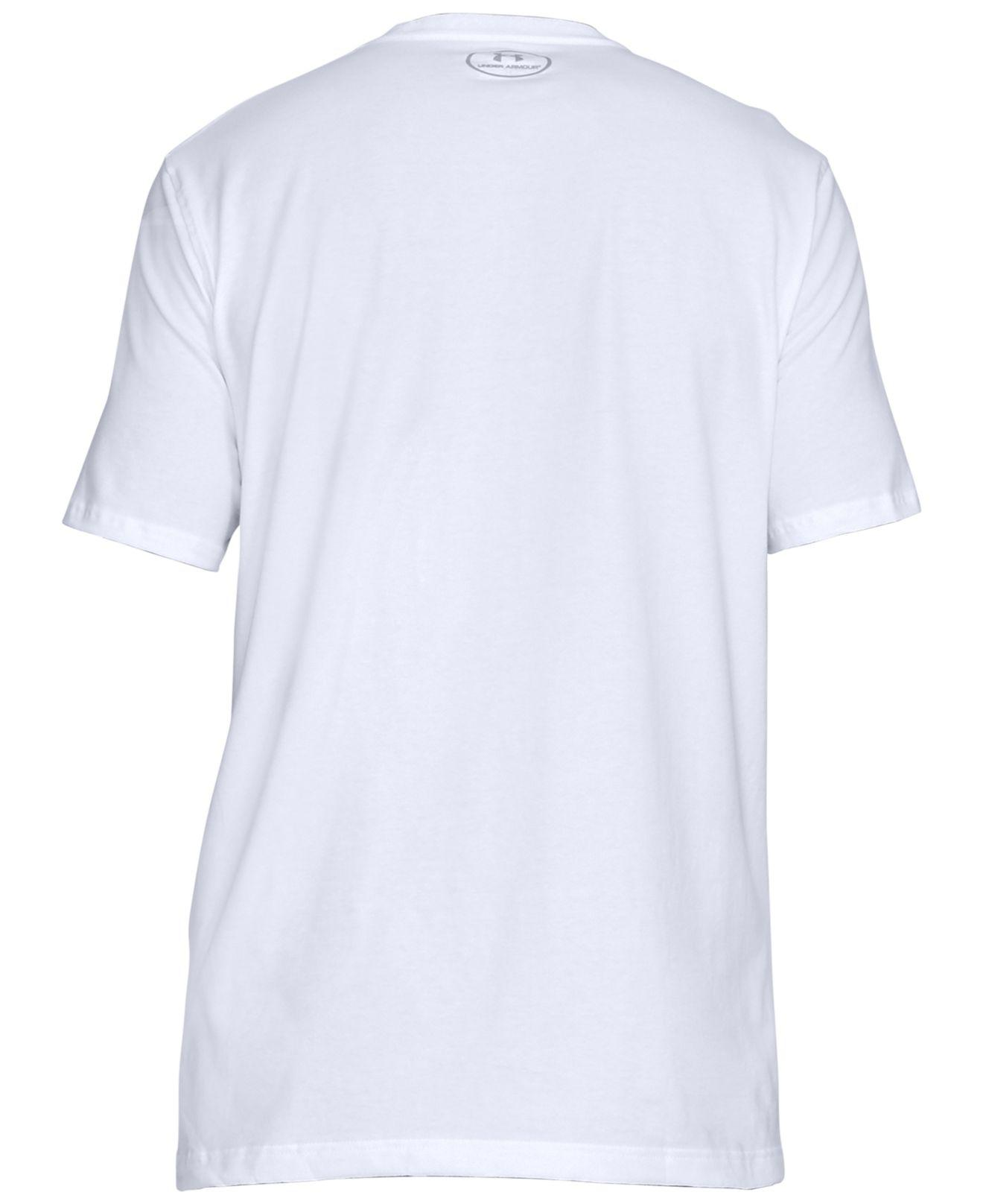 88eb79b6d Under Armour Charged Cotton® Colorblocked-logo T-shirt in White for ...