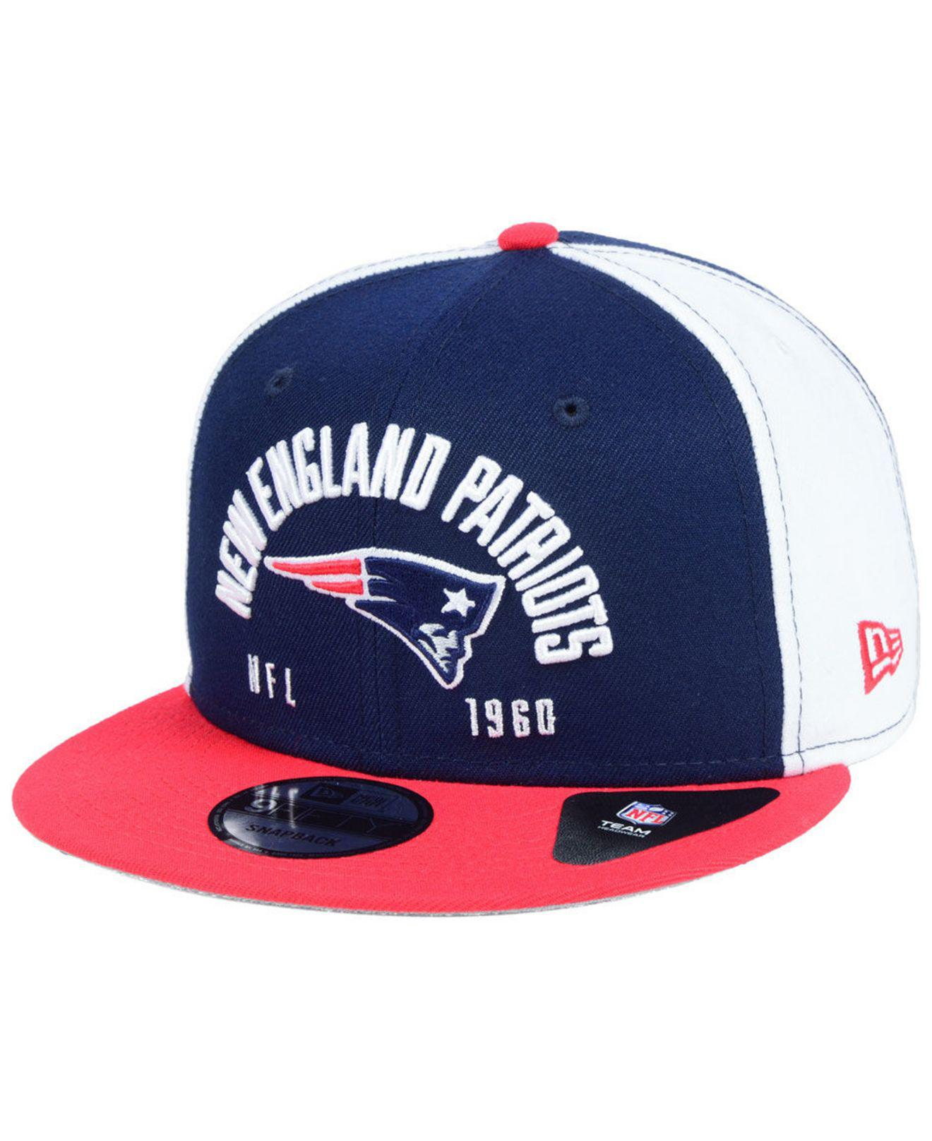 bd95e07738c Lyst - Ktz New England Patriots Establisher 9fifty Snapback Cap in ...