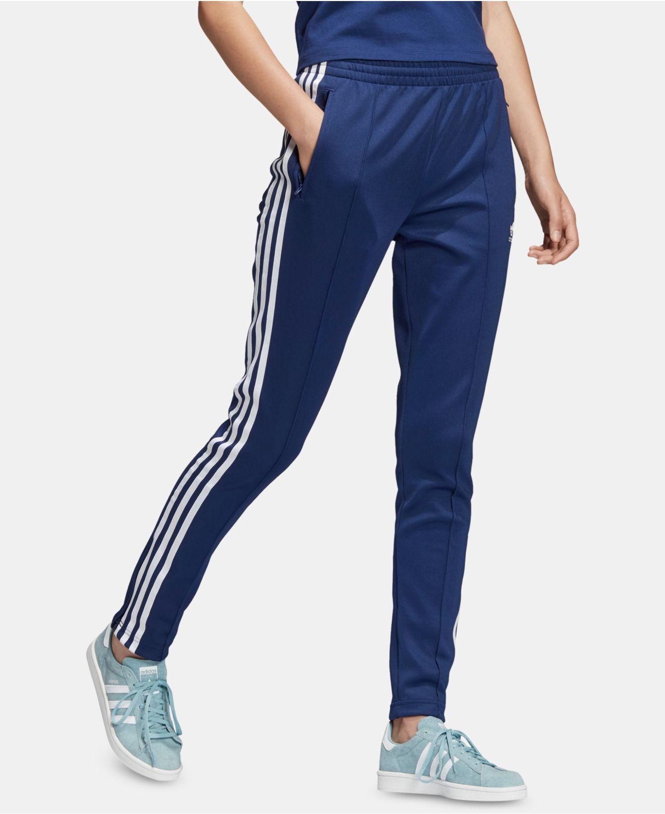 dd7b000b163 Lyst - adidas Originals Adicolor Superstar Track Pants in Blue