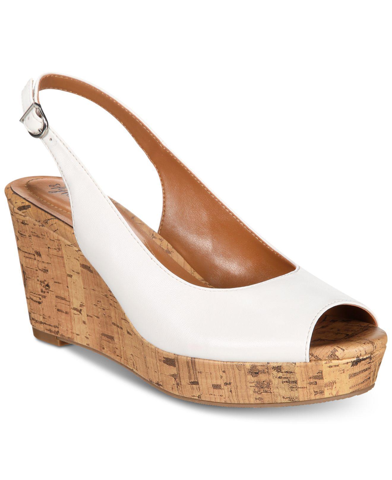 456f8ec0cc8 Style   Co. Women s White Sondire Platform Wedge Sandals ...
