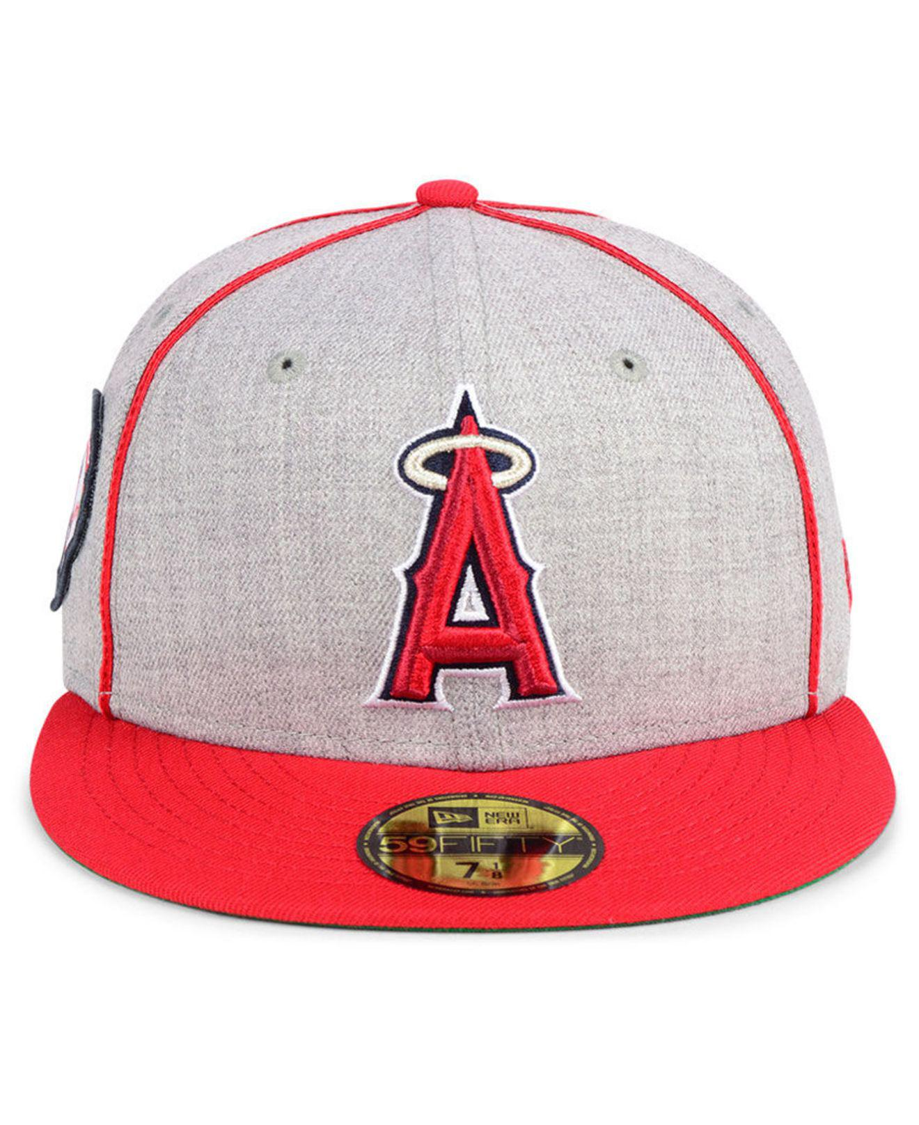 eb395ba1 ... canada lyst ktz los angeles angels stache 59fifty fitted cap in red for  men cde8f cbe13