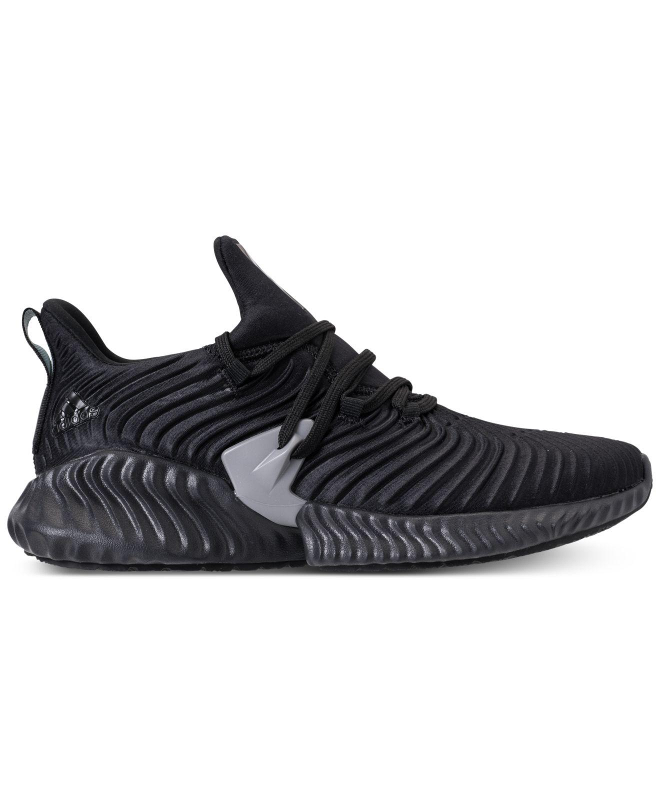 new style 81bb4 39e0f Lyst - adidas Alphabounce Instinct Running Sneakers From Finish Line in  Black - Save 62%