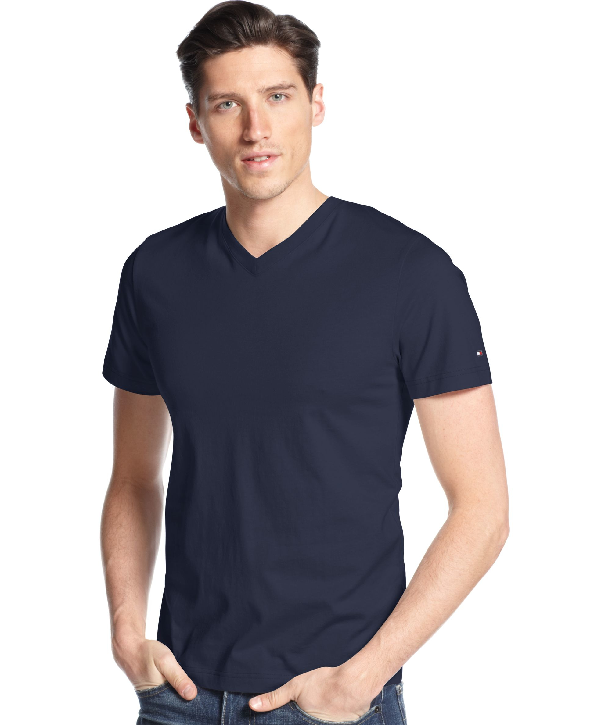 Tommy hilfiger big and tall men 39 s elmira v neck t shirt in for Tall v neck t shirts