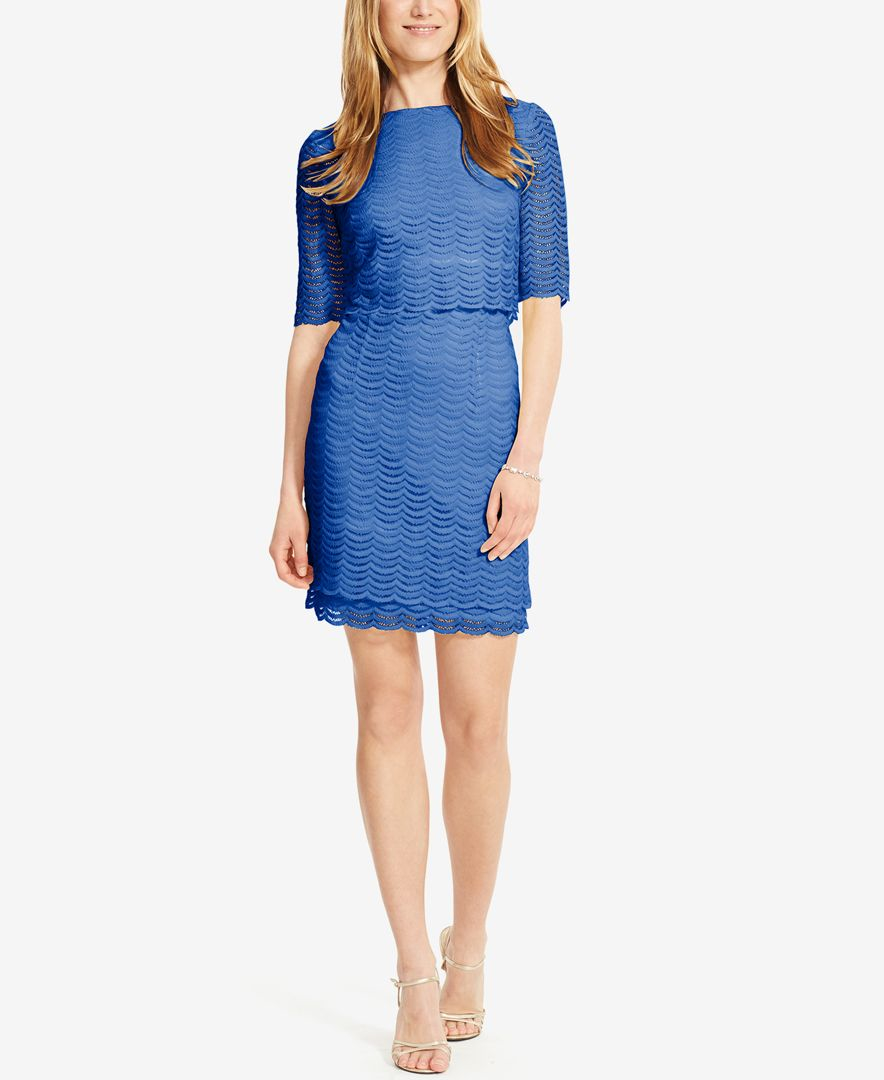 American Living Mesh Popover Dress In Blue Lyst
