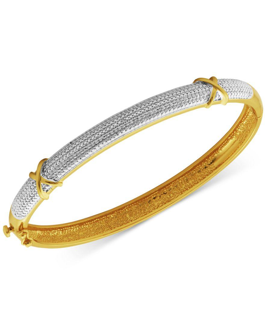 macy s accent x bangle bracelet in silver plated