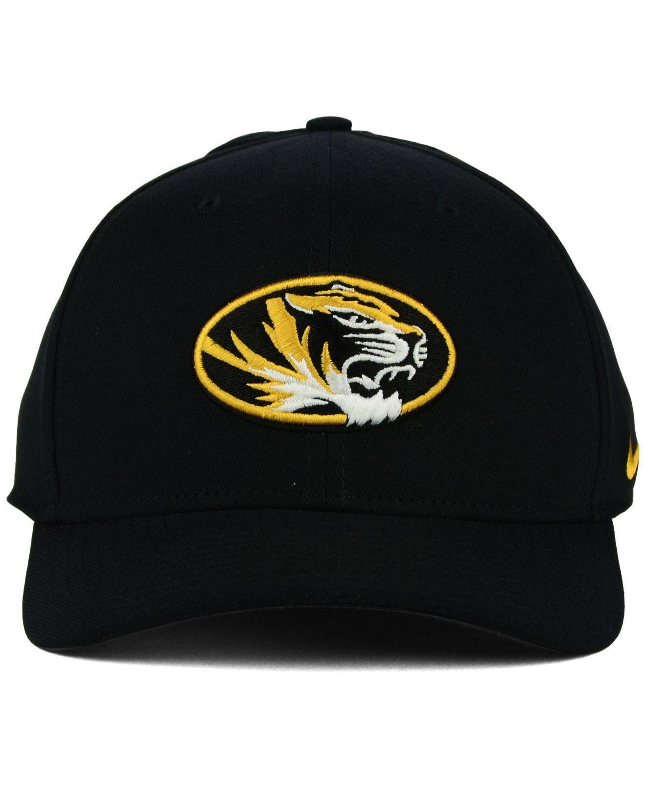 online retailer 98753 747ea ... reduced lyst nike missouri tigers classic swoosh cap in black for men  ea725 78e09