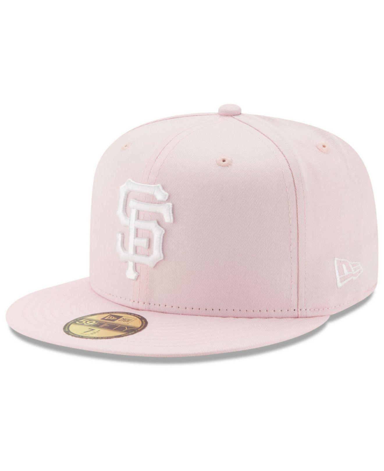 brand new 2ef25 16387 KTZ San Francisco Giants C-dub Patch 59fifty Cap in Pink - Lyst