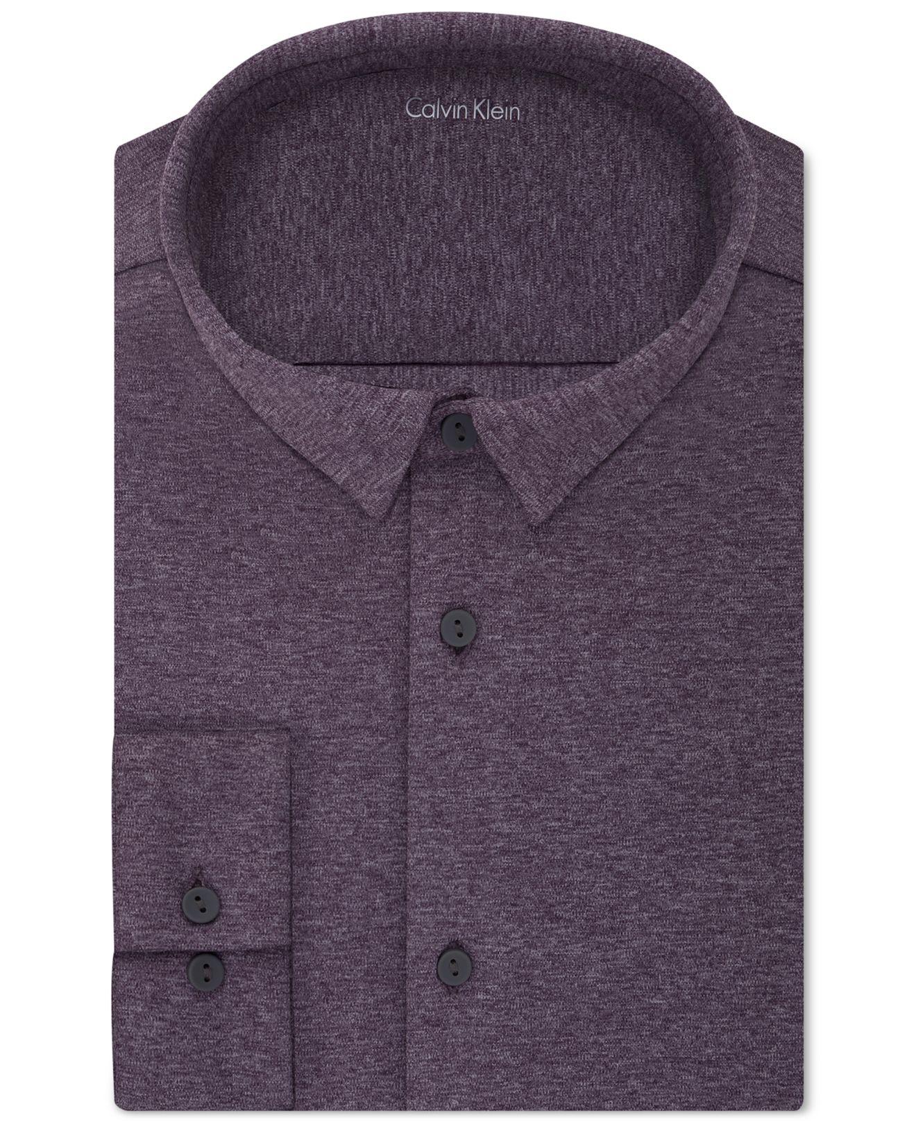 Calvin klein men 39 s slim fit infinite stretch knit dress for Calvin klein slim fit stretch shirt