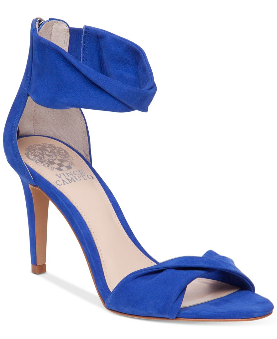 Vince Camuto Camden Dress Sandals In Blue Lyst
