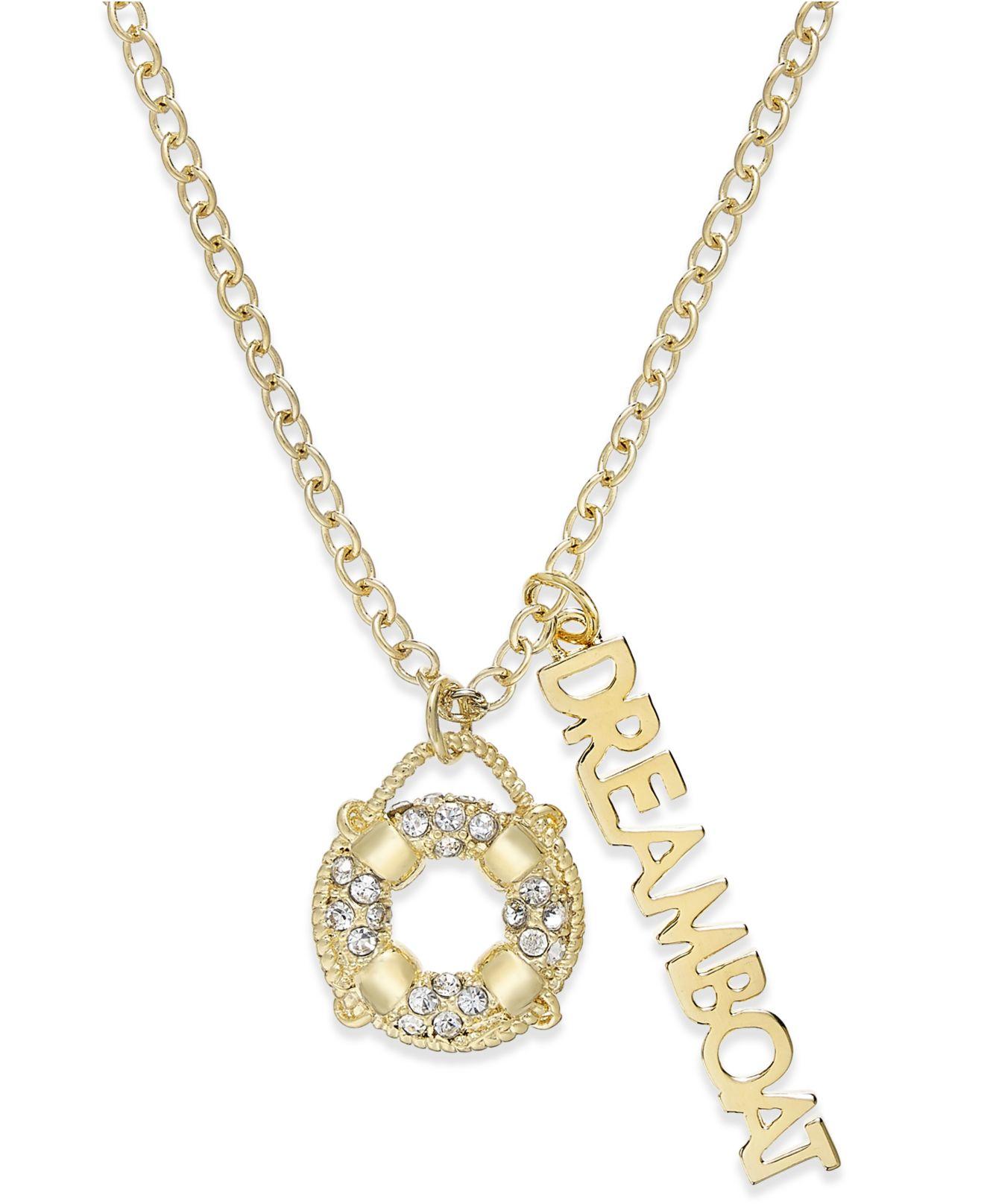 Kate spade Gold-tone Nautical Theme Charm Pendant Necklace ...