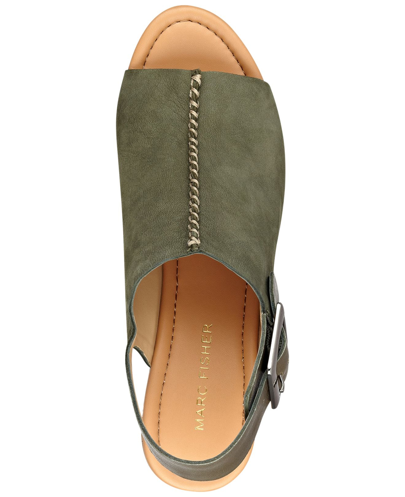 Marc Fisher Sinthya Wedge Sandals In Gray Lyst