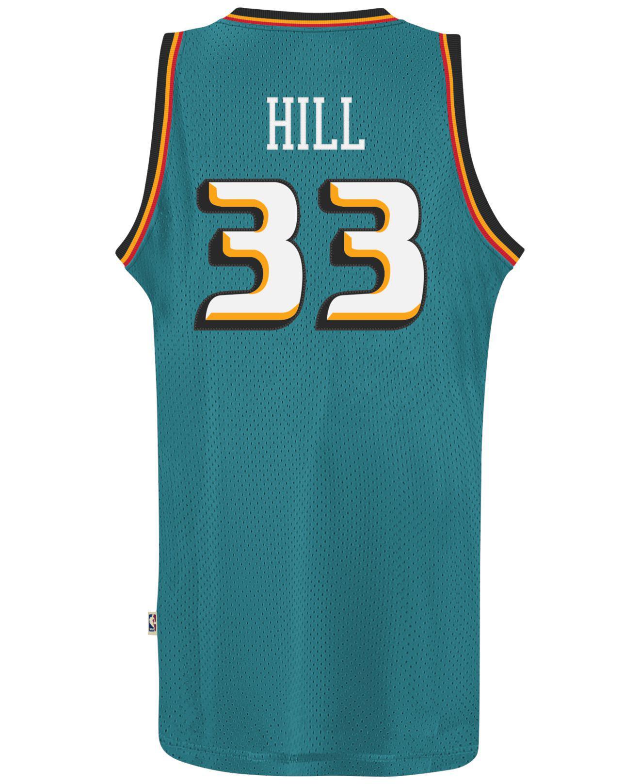 ... reduced adidas. blue mens grant hill detroit pistons retired player swingman  jersey c9d13 269bb a38932c1d
