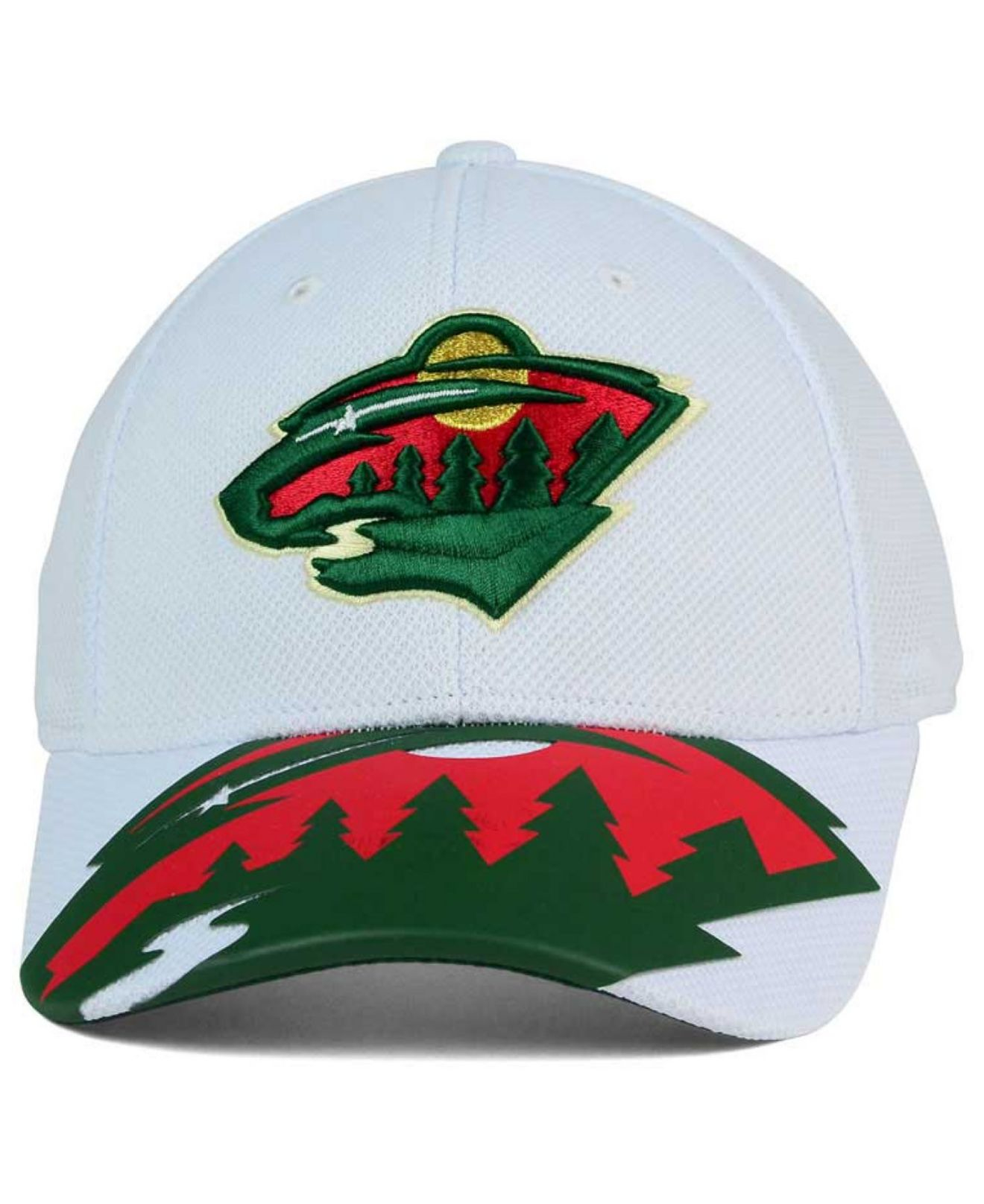 8721127ba86 ... cheap lyst reebok minnesota wild 2nd season draft flex cap in white for  men 4f634 382ec