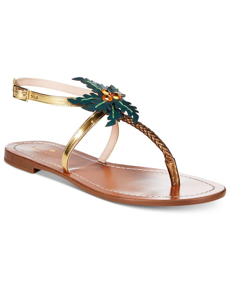 free shipping visit Kate Spade New York Solana Metallic Thong Sandals wide range of sale online footlocker pictures sale online jER0v30RIW