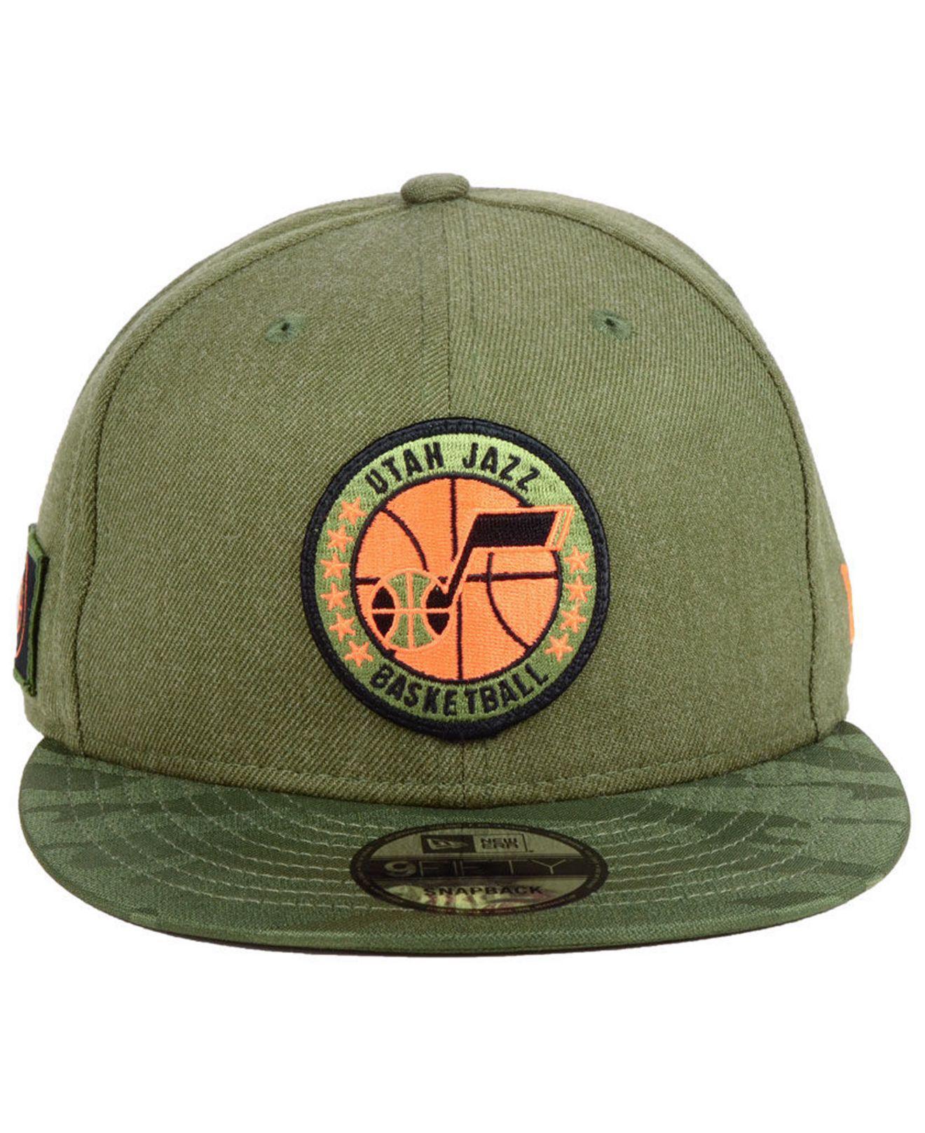 0edb4e4c129 Lyst - KTZ Utah Jazz Tip Off 9fifty Snapback Cap in Green for Men