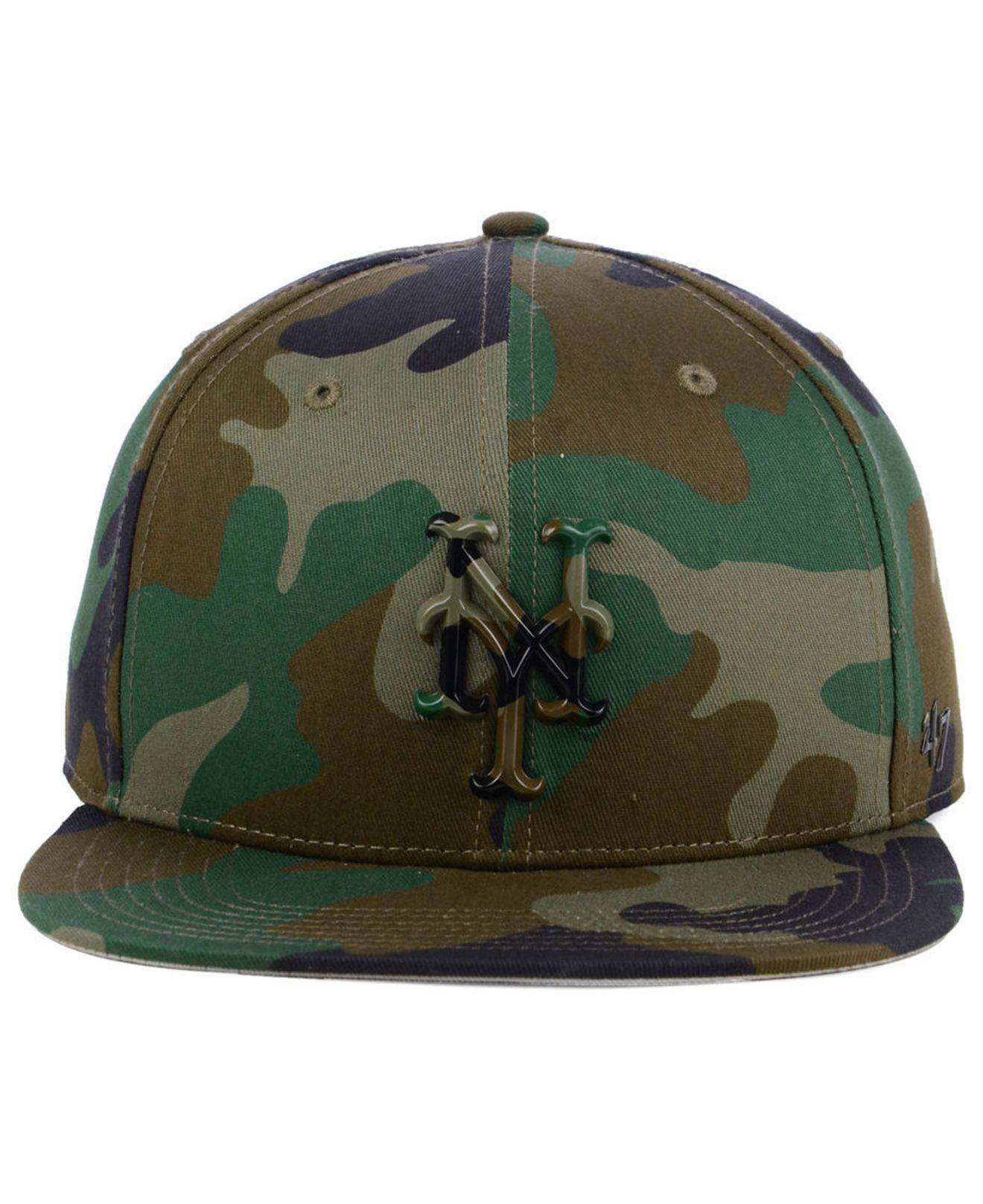 super popular 9ce78 247aa free shipping lyst 47 brand new york mets camo snapback cap in green for  men 7109a
