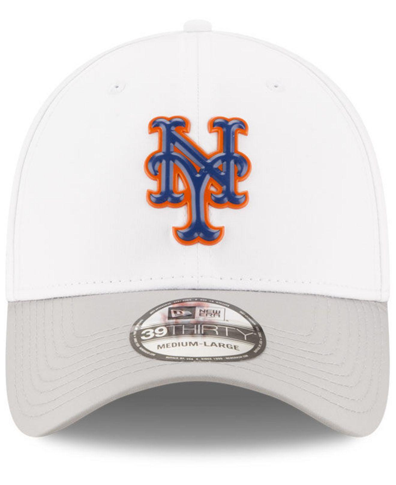 best website 8d266 82ffe ... italy lyst ktz new york mets white batting practice 39thirty cap in  white for men 9acd4