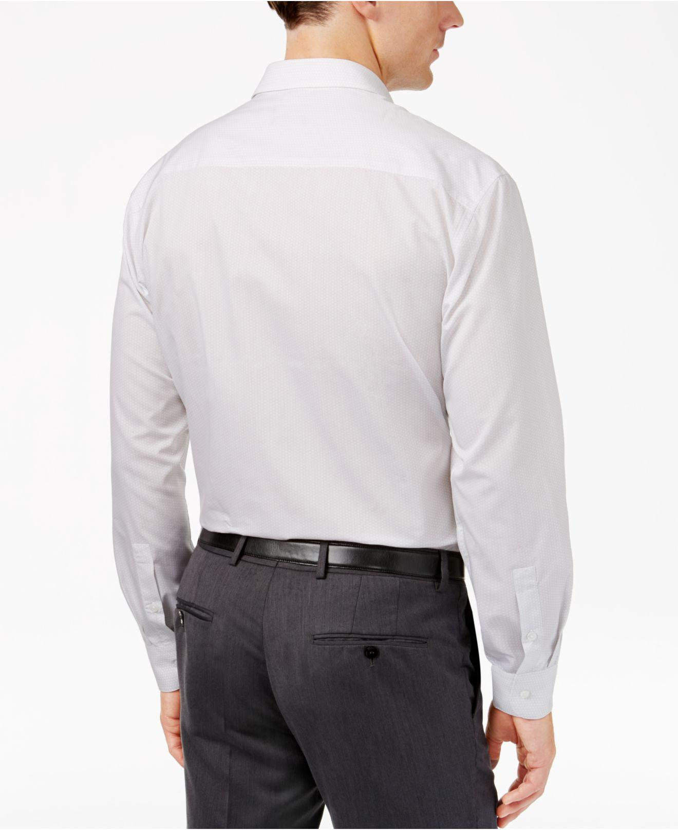 Alfani men 39 s extra slim fit basket weave dress shirt in for Extra slim dress shirt