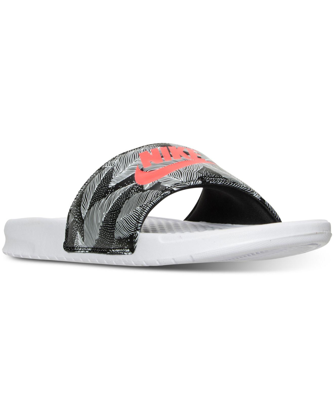 49e68c0cf7be Lyst - Nike Men s Benassi Jdi Print Slide Sandals From Finish Line ...