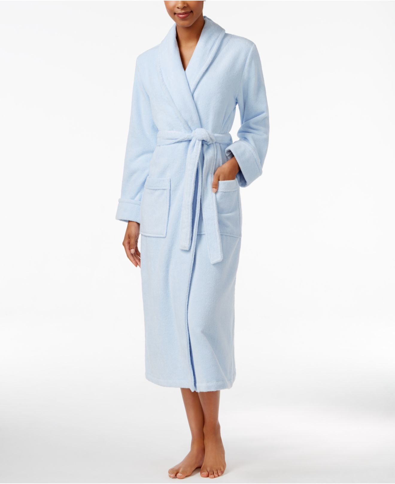 Lyst Charter Club Luxe Turkish Cotton Terry Wrap Robe In