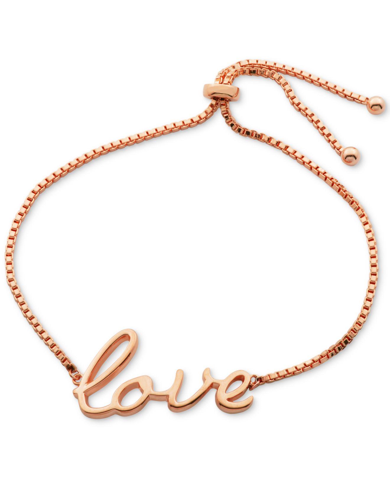 macy s script slider bracelet in 18k gold