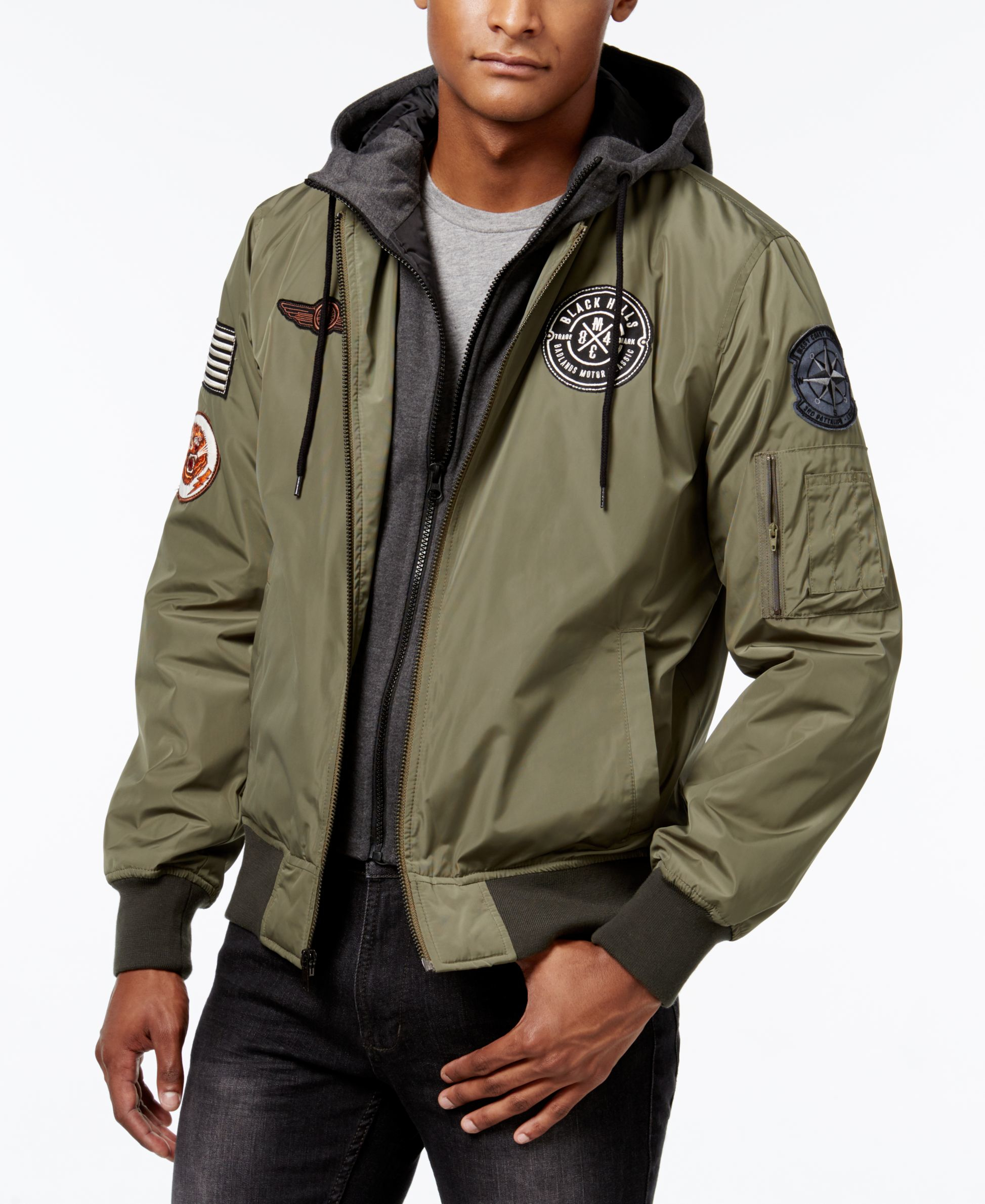 American Rag Men S Hooded Bomber Jacket Only At Macy S In