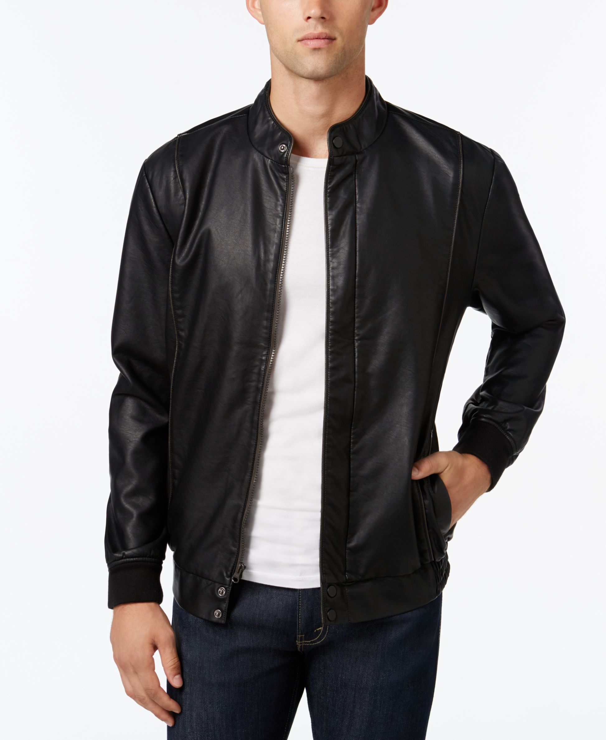Macys leather jackets for men