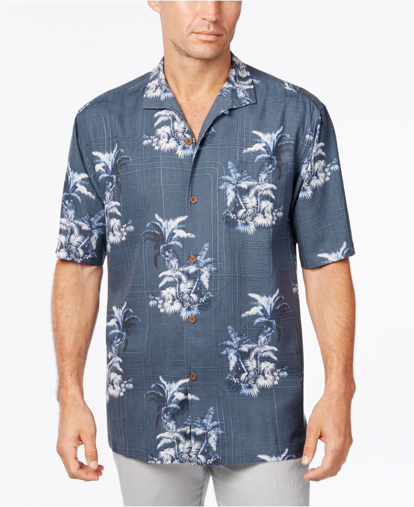 Tommy bahama men 39 s where the palm frond tropical print for Where to buy tommy bahama shirts