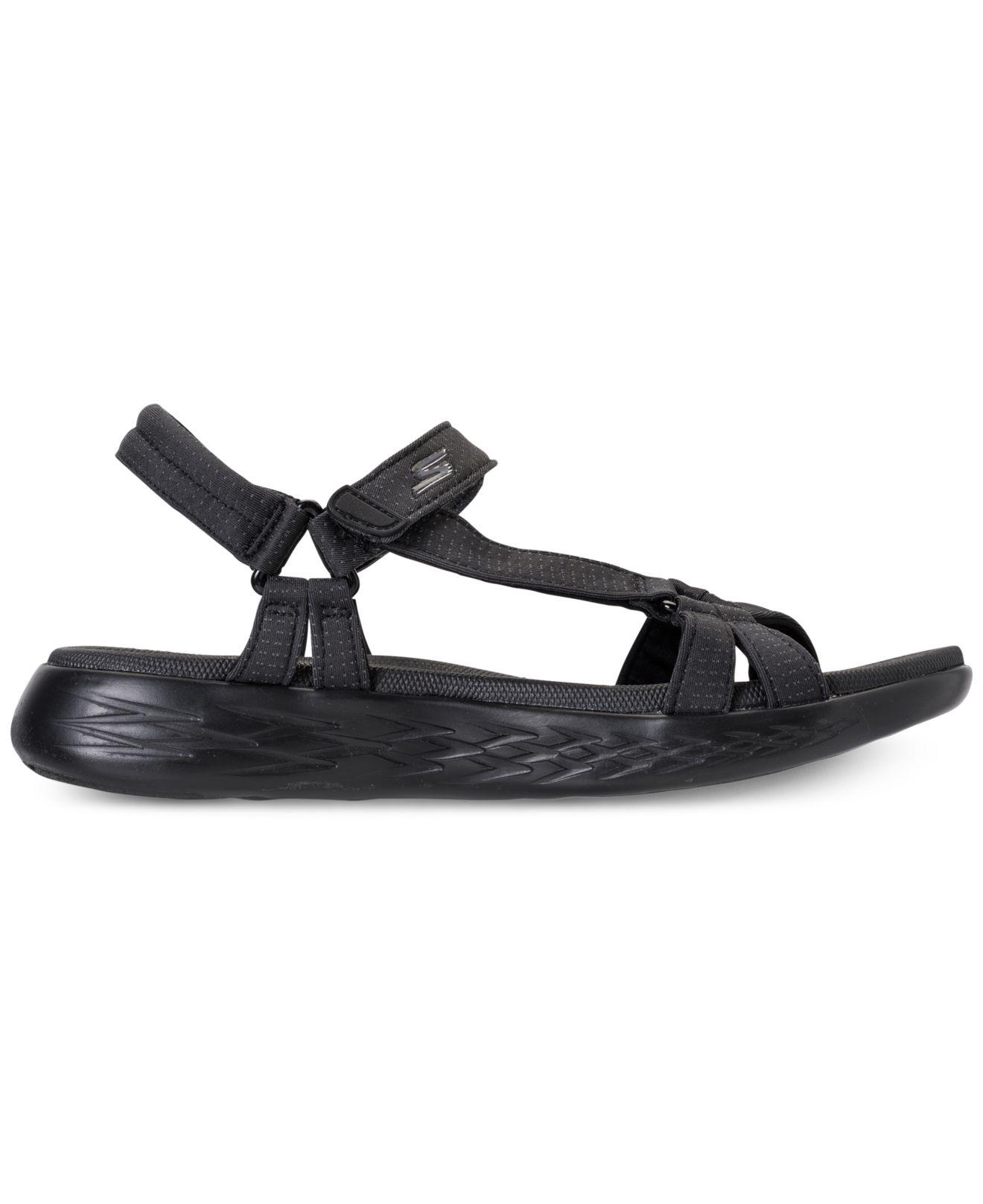 2ed6313c96fd Lyst - Skechers On The Go 600 - Brilliancy Athletic Sandals From Finish Line  in Black