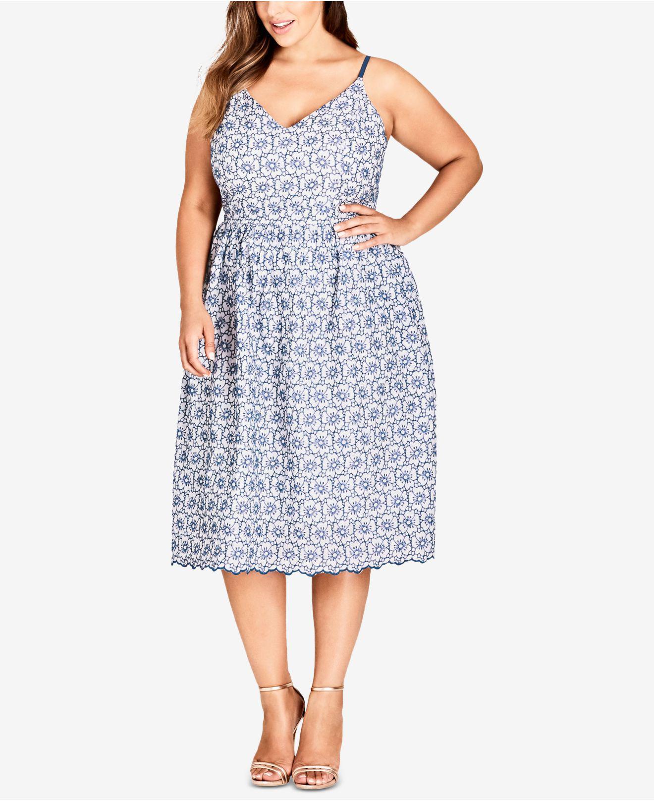 a41e73f153f City Chic. Women s Trendy Plus Size Cotton Fit   Flare Midi Dress
