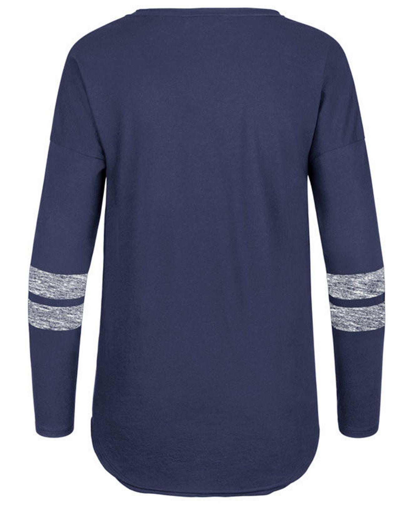 f8381b61e Lyst - 47 Brand Chicago Cubs Court Side Long Sleeve T-shirt in Blue