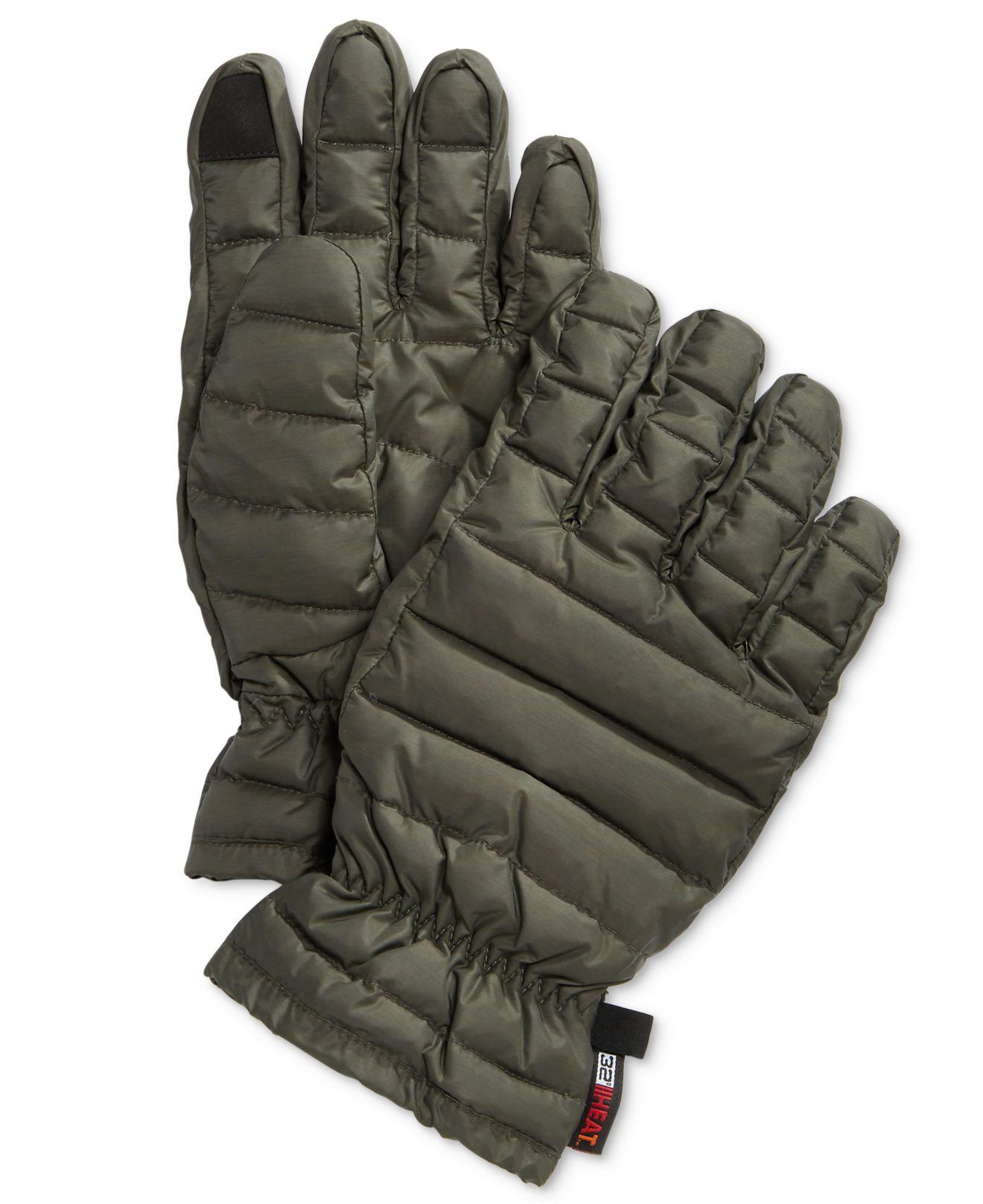 Mens down gloves - Featured 32 Degrees Green Men S Down Gloves