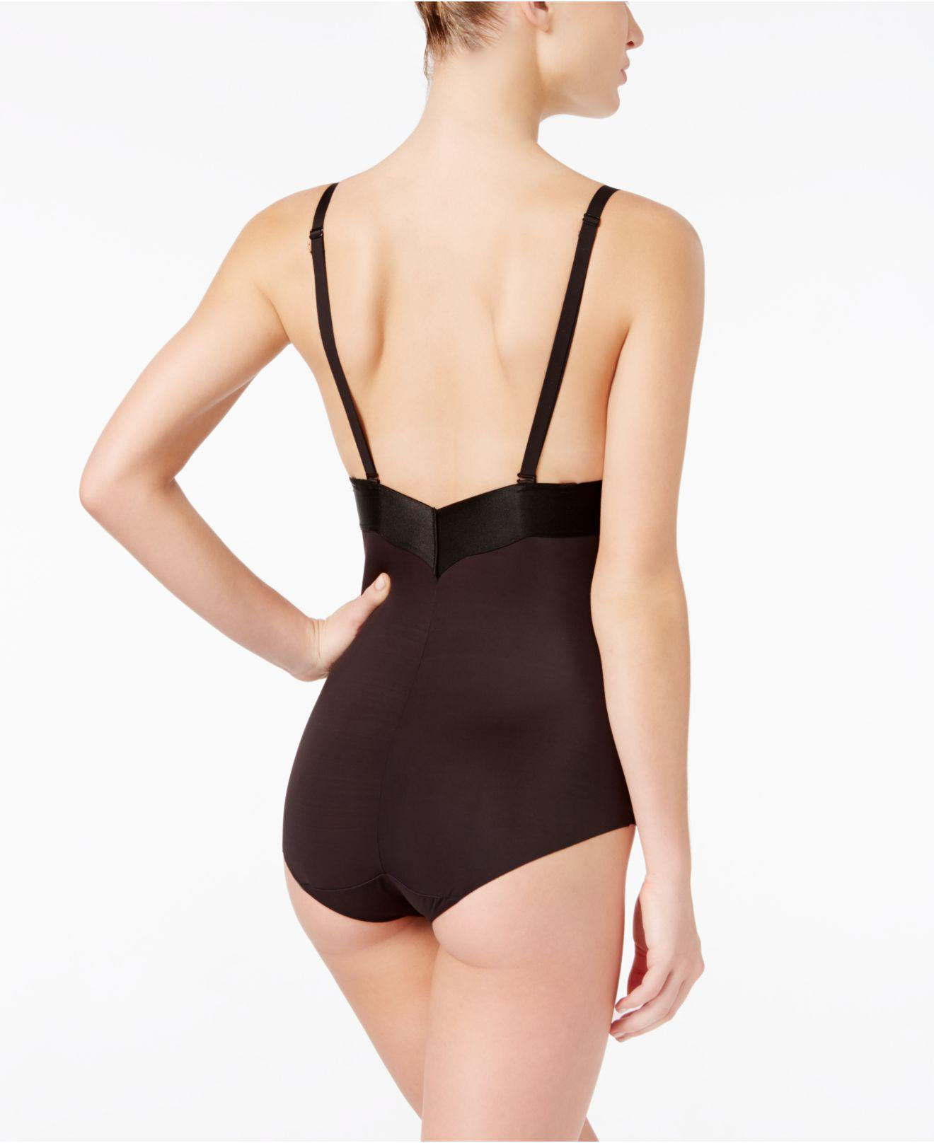 94159df5a32 Lyst - Maidenform Endlessly Smooth Firm Tummy-control Plunge Bodybriefer  Dm1008 in Black
