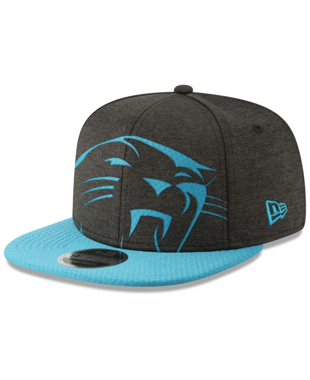 cc1aa9b1adcd8 best carolina panthers new era 2017 nfl draft 59fifty cap 88709 ad0ef   closeout ktz. mens black carolina panthers oversized laser cut 9fifty  snapback cap ...