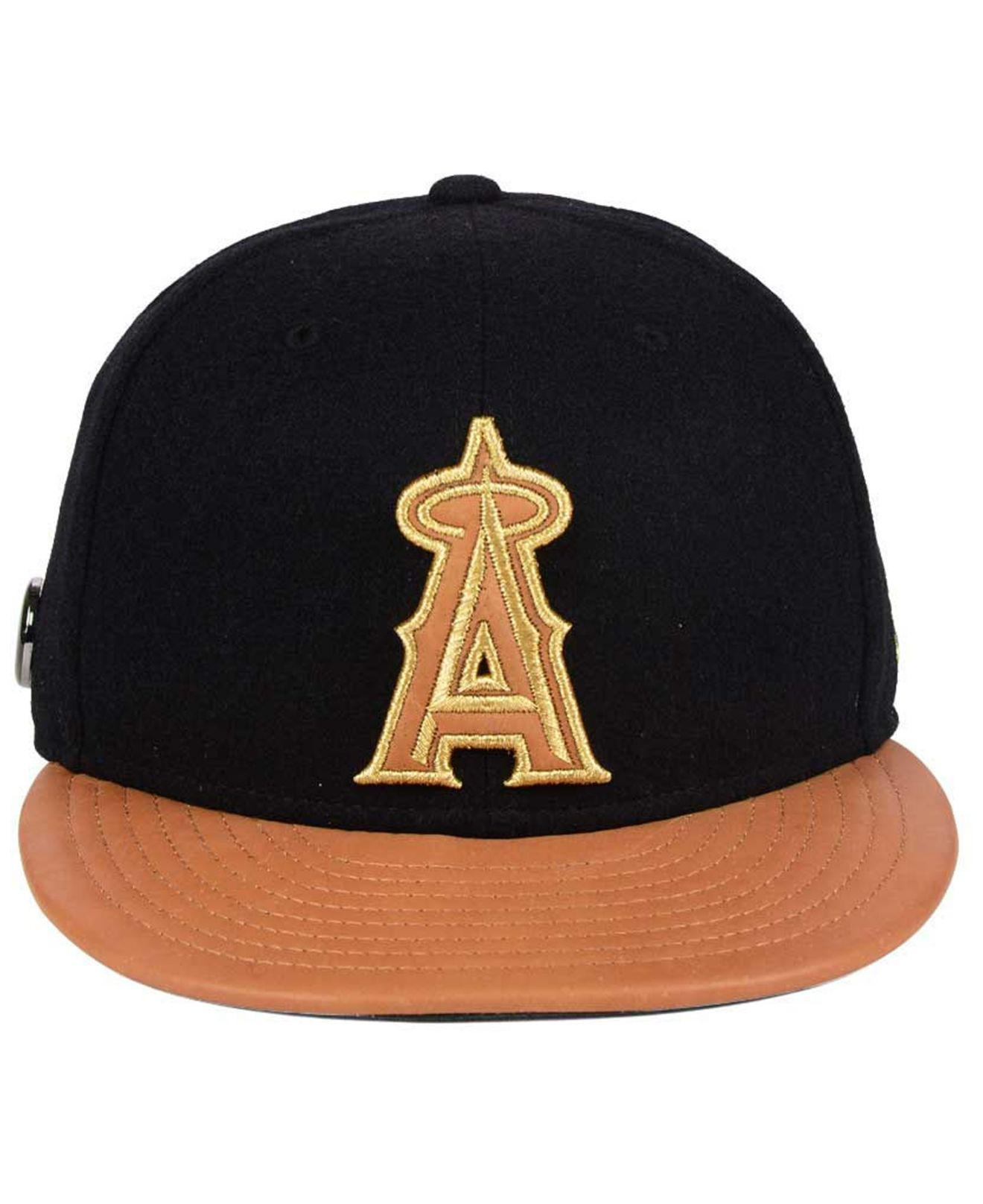 official photos 7c7dd c8bc5 ... coupon for lyst ktz los angeles angels x wilson metallic 59fifty fitted  cap fbd7c 4070c