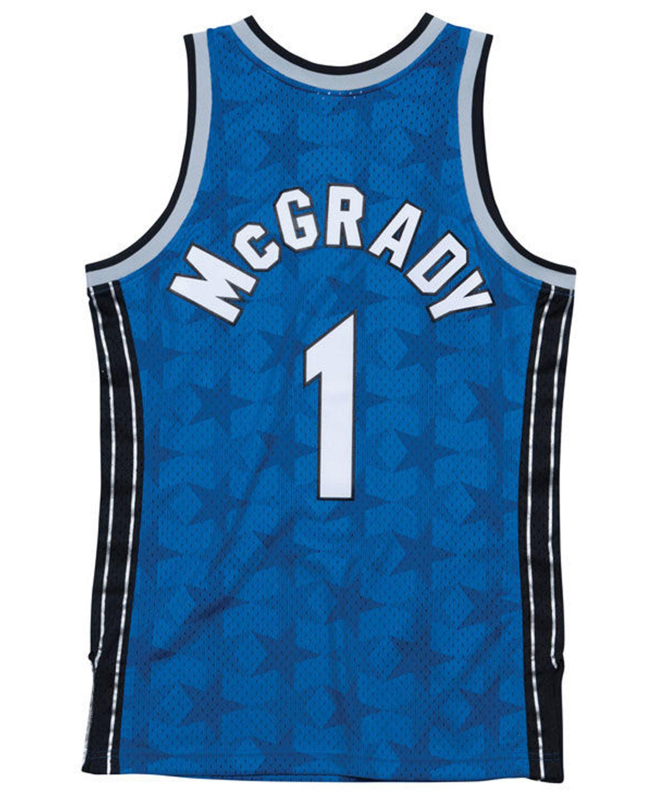 ee3a046a8c46 Mitchell   Ness Tracy Mcgrady Orlando Magic Hardwood Classic Swingman  Jersey in Blue for Men - Lyst