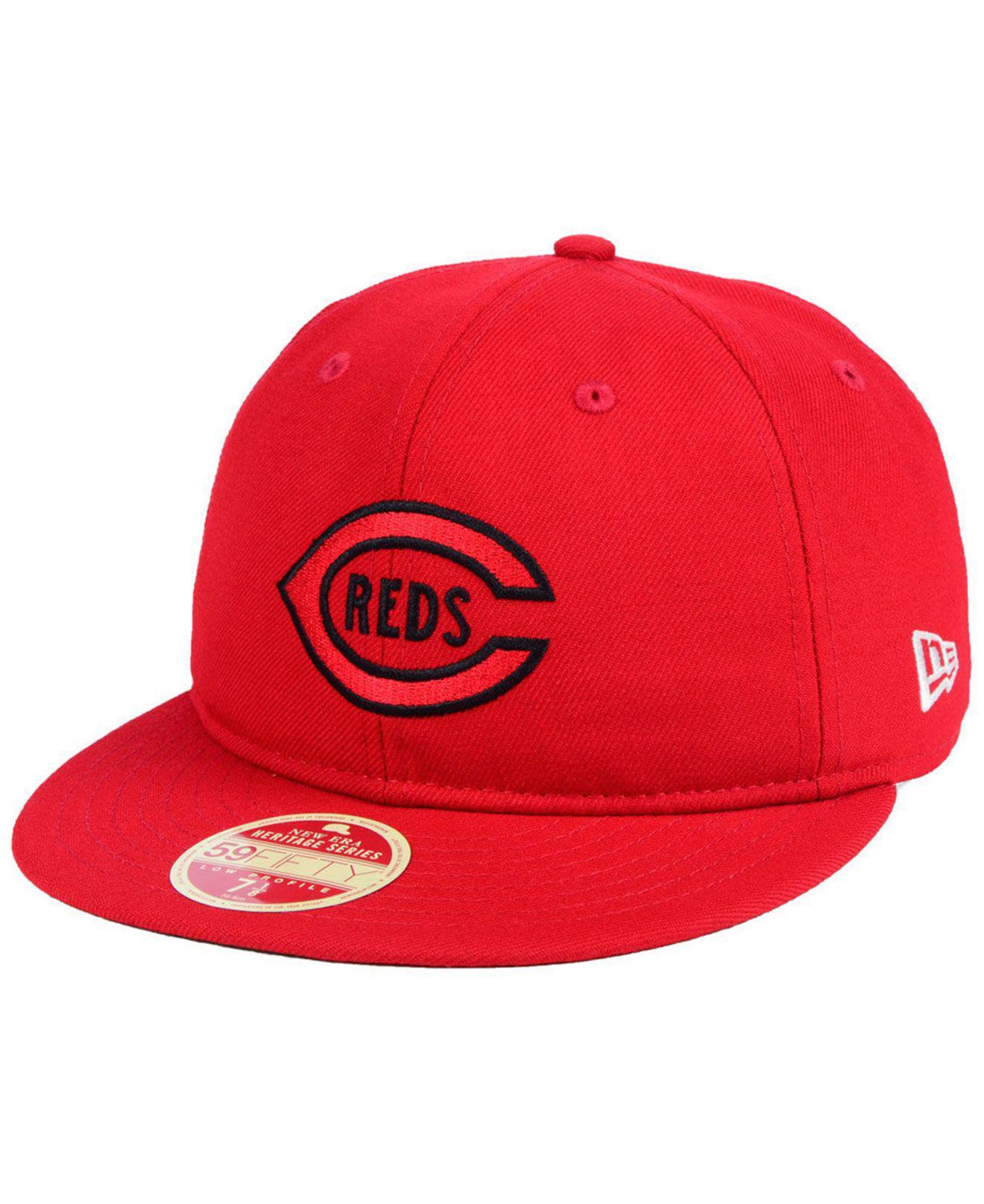 size 40 8dd74 c2670 ... australia ktz cincinnati reds heritage retro classic 59fifty fitted cap  for men lyst. view fullscreen