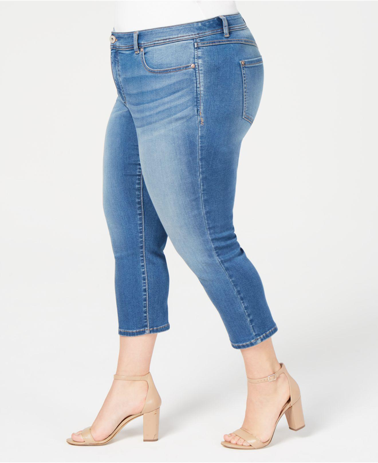 8a61b19af60b2 Lyst - Inc International Concepts I.n.c. Plus Size Incfinity Cropped Skinny  Jeans