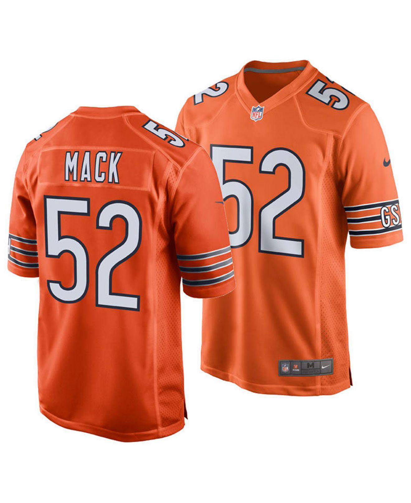 e6a4cb4bb Lyst - Nike Khalil Mack Chicago Bears Game Jersey in Orange for Men