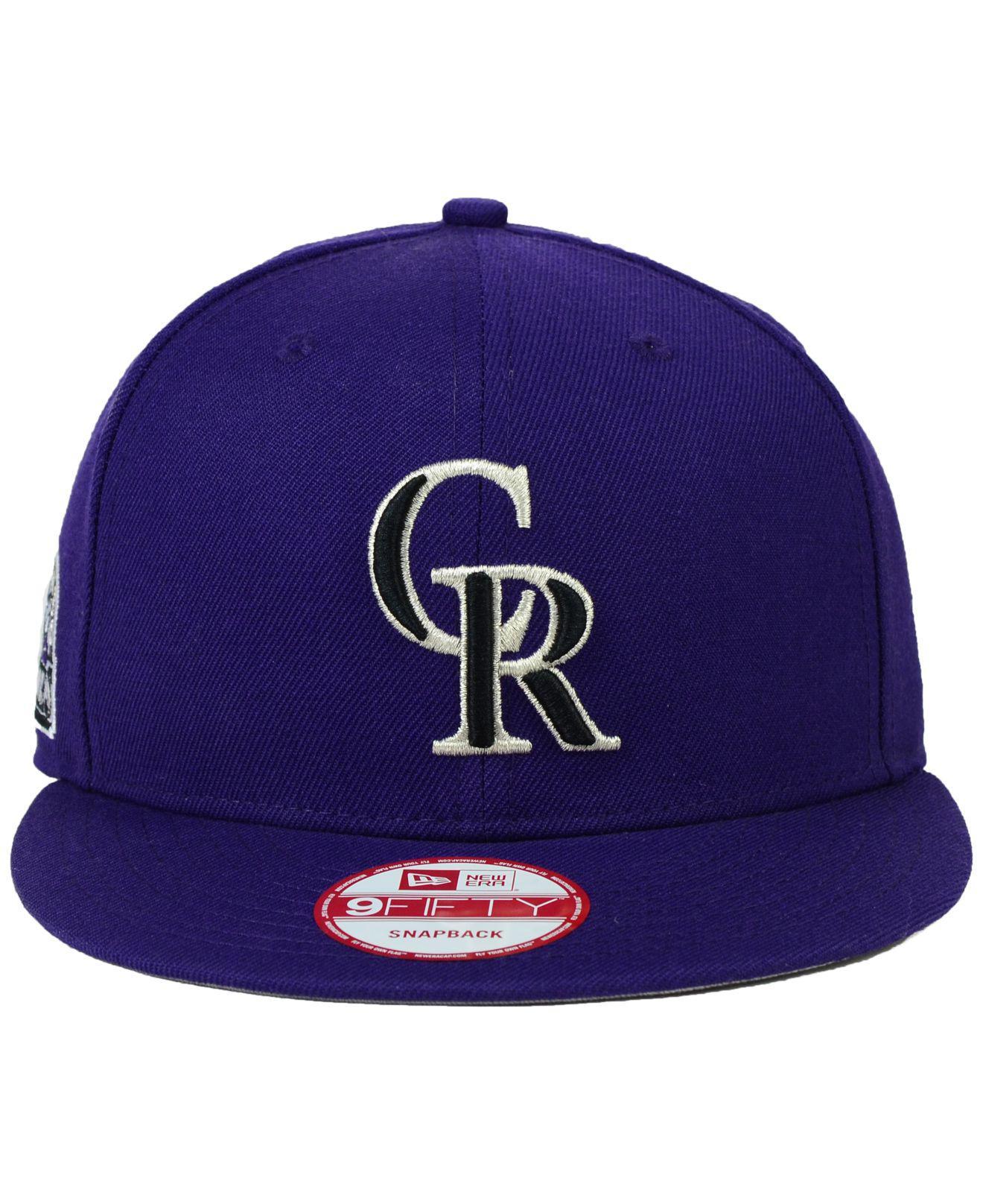 sports shoes 87892 bb8fb sale lyst ktz colorado rockies 2 tone link 9fifty snapback cap in purple  for men 6b307