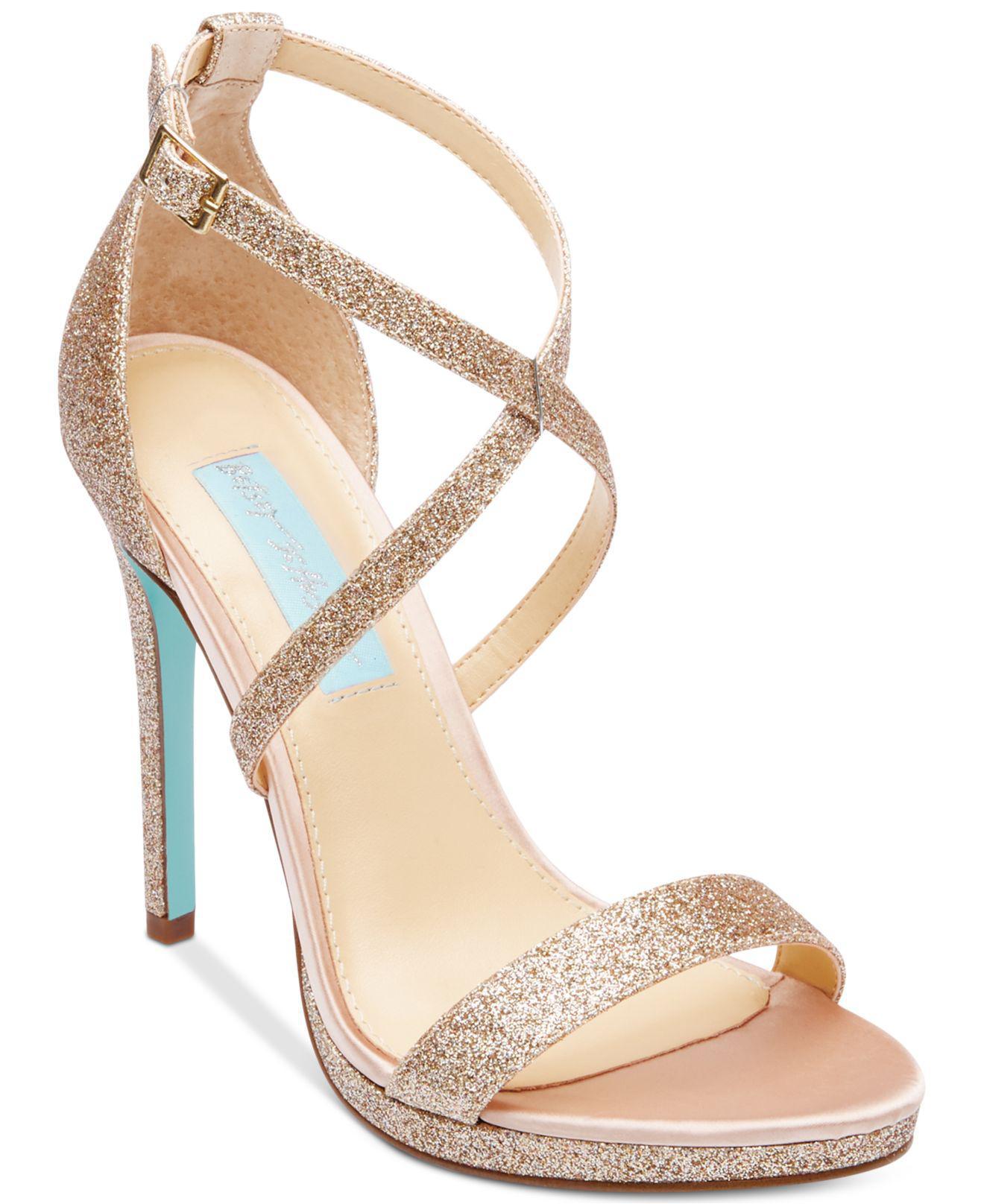 3b852df1d0e Lyst - Betsey Johnson Andi Evening Sandals in Metallic