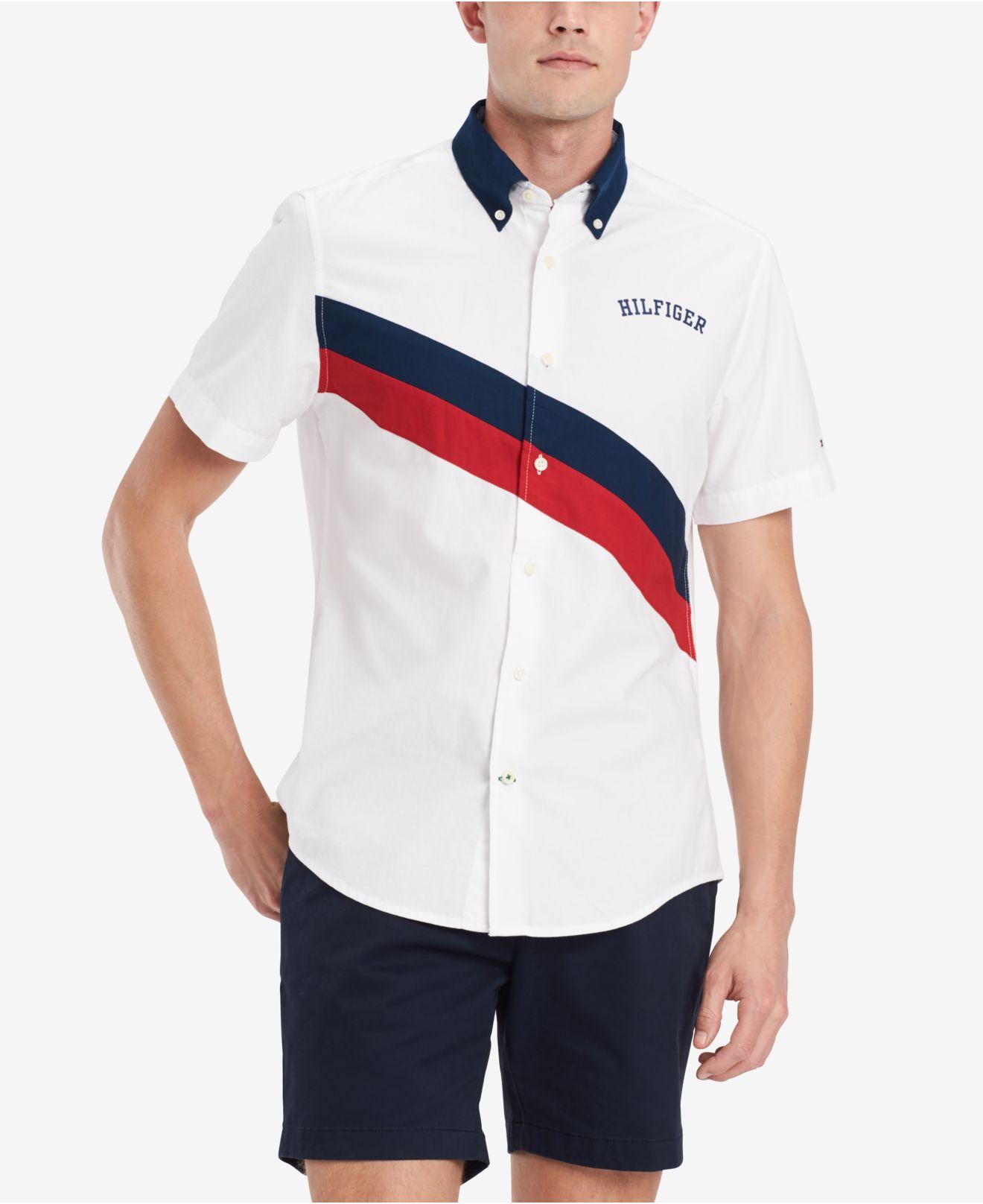 b2cba654bb1 Lyst - Tommy Hilfiger Sash Block Shirt, Created For Macy's in White ...