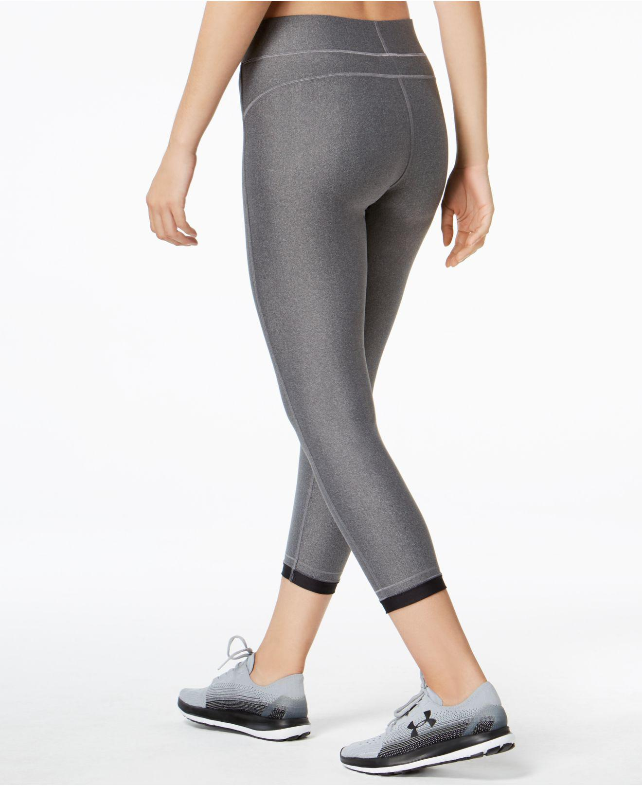 e74b28afefe885 Lyst - Under Armour Heatgear® Compression Ankle Leggings in Gray