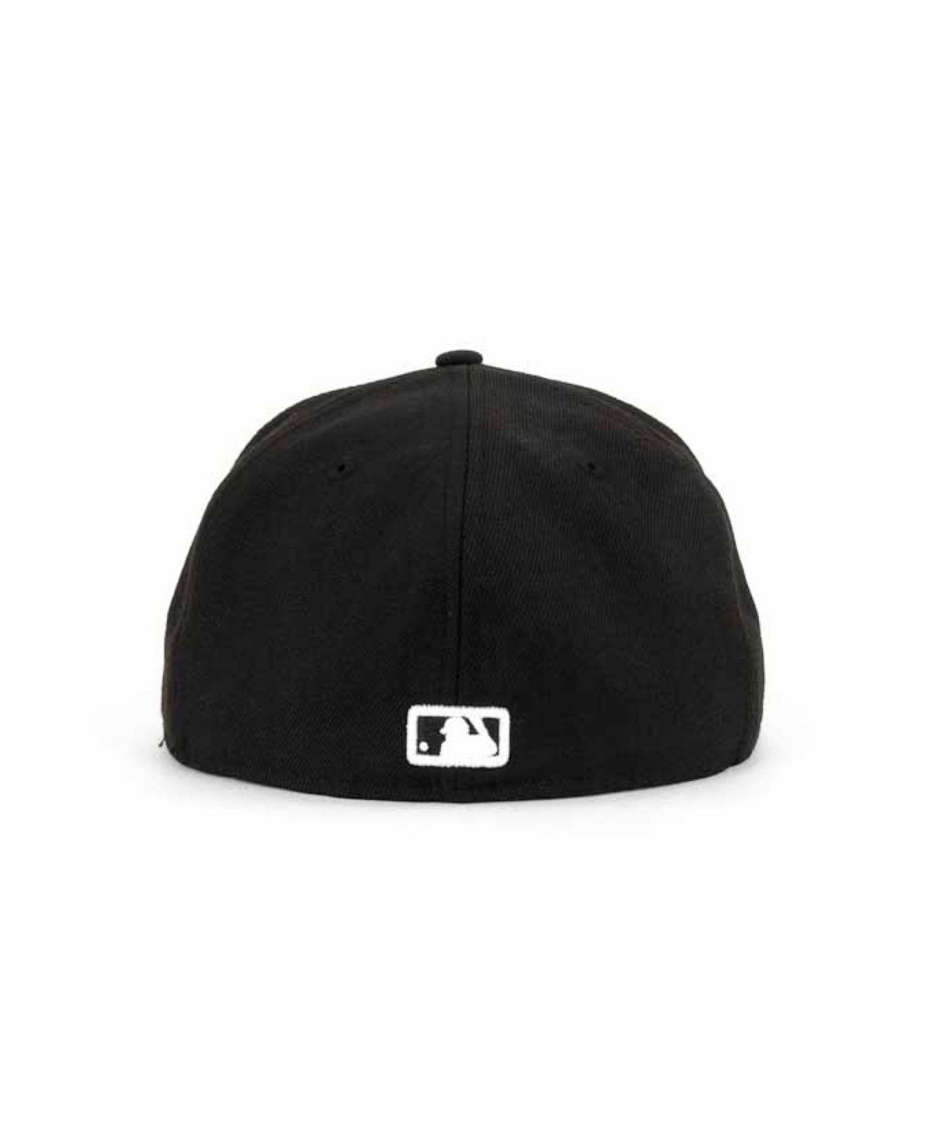 e4f6d841df0 KTZ - Milwaukee Brewers Mlb Black And White Fashion 59fifty Cap for Men -  Lyst. View fullscreen